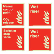 Fireman and Riser Signs