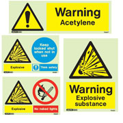 Flammable & Gas Warning Signs