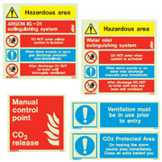 Gas Fire System Signs