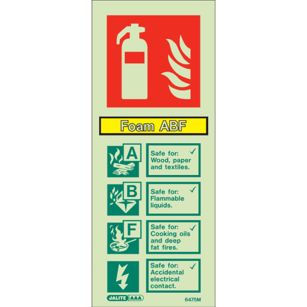 Foam ABF Extinguisher Sign 6475