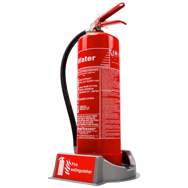 Silver extinguisher plinth