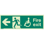 Wheelchair Fire Exit Left 4032