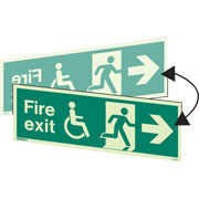 Hanging Wheelchair Fire Exit Right 4034