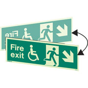 Hanging Wheelchair Fire Exit Right Down 4045