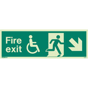 Wheelchair Fire Exit Right Down 4045