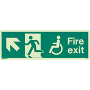 Wheelchair Fire Exit Left Up 4047
