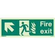 NHS Fire Exit Up Left 434HTM