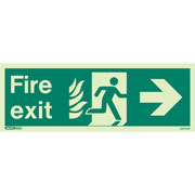 NHS Fire Exit Right 435HTM