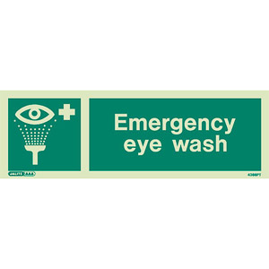 Eyewash station sign 4366