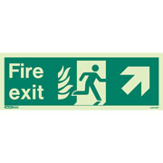 NHS Fire Exit Up Right 438HTM