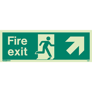 Fire exit ahead right sign