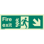 NHS Fire Exit Down Right 439HTM