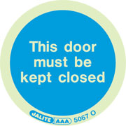Door Must Be Kept Closed Pack of 10 5067