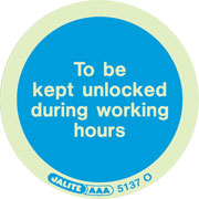 Door Unlocked In Working Hours Pack of 10 5137