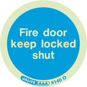 Fire door keep locked shut 5140 10-pack