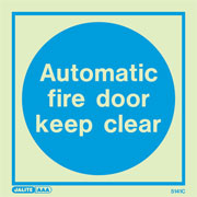 Automatic Fire Door Keep Clear 5141