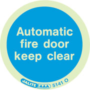Automatic Fire Door Keep Clear Pack of 10 5141