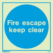 Fire Escape Keep Clear 5190