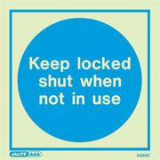 Keep Locked Shut When Not In Use 5424