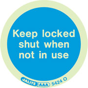 Keep Locked Shut When Not In Use Pack of 10 5424