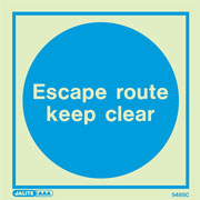 Escape Route Keep Clear 5485