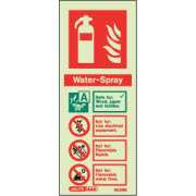 Water spray fire extinguisher sign