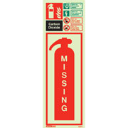 Carbon Dioxide Extinguisher Missing 6397