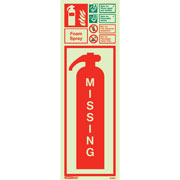 Foam Spray Extinguisher Missing 6398
