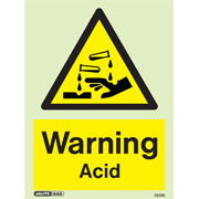 Warning Acid 7217