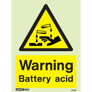 Warning Battery Acid 7218