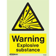 Warning Explosive Substance 7423
