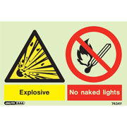 Warning Explosive No Naked Lights 7434