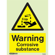 Warning Corrosive Substance 7440