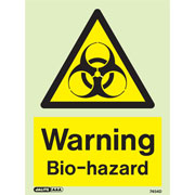 Warning Bio Hazard 7454