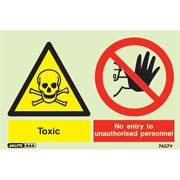 Warning Toxic No Entry Unauthorized Personnel 7457
