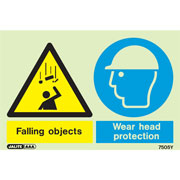 Warning Falling Objects Wear Head Protection 7505