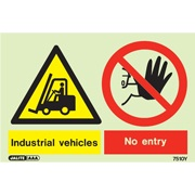Warning Industrial Vehicles No Entry 7510
