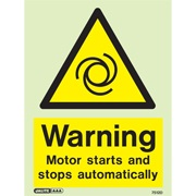 Warning Motor Starts And Stops 7512