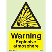 Warning Explosive Atmosphere 7549