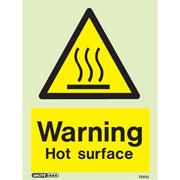 Warning Hot Surface 7561