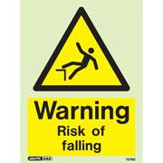 Warning Risk Of Falling 7579