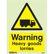 Warning Heavy Goods Lorries 7581