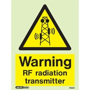 Warning RF Radiation Transmitter 7582