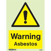 Warning Asbestos 7586