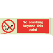 Wall Mount No Smoking Beyond Point 8025FS