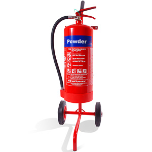 Single extinguisher trolley