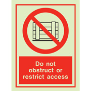 Do Not Obstruct 8190