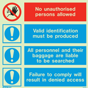 No Unauthorized Persons Allowed 8227