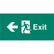 Emergency Light Legend Exit Left Pack of 10 EL409