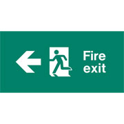 Emergency Light Legend Fire Exit Left Pack of 10 EL430